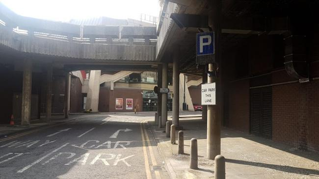 The car park at Broad Street Mall