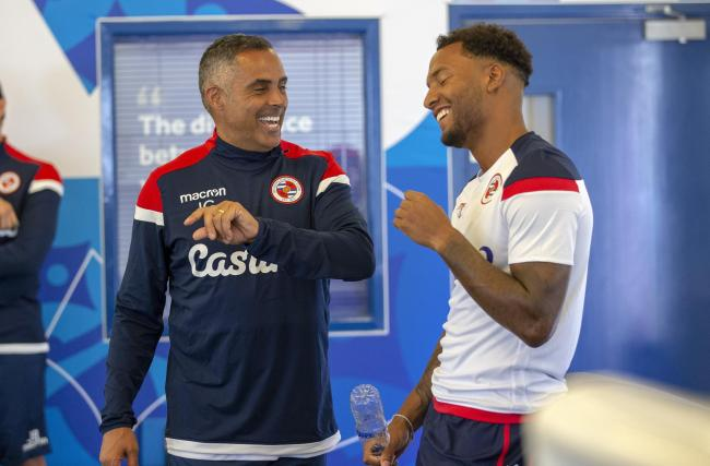 Jose Gomes with Liam Moore