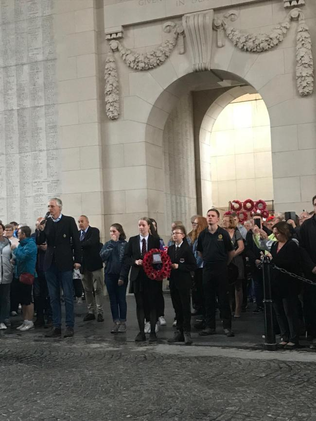 Students took part in the Menin Gate ceremony.
