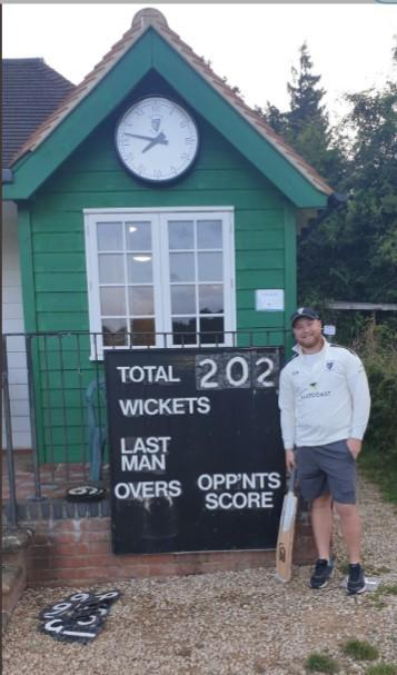 Blake Hogan-Keogh scored 202 for Haprsden