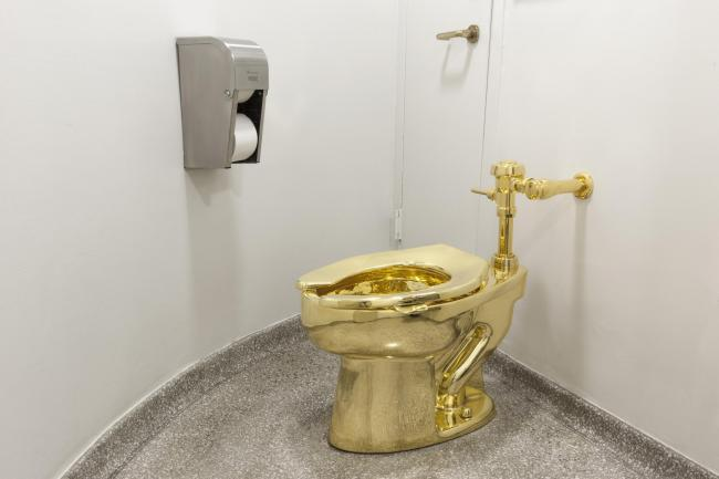 SOLID GOLD toilet worth £1m - and you can use it!