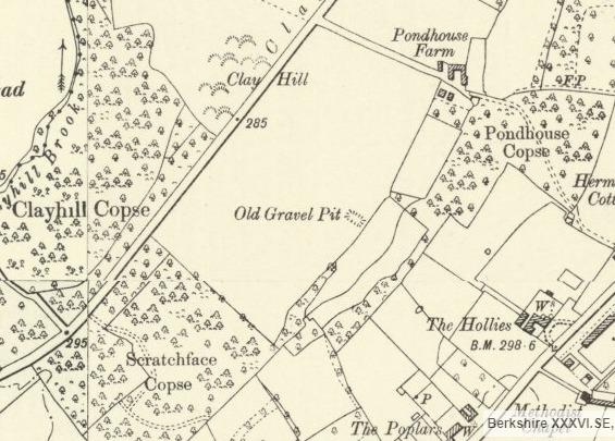 An ordnance survey map from 1900 showing the location of the planned development