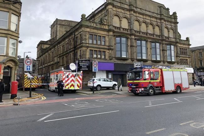 Fire services outside the club