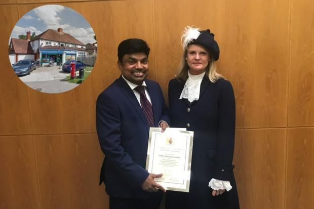 Mr Elanganathan and the High Sheriff of Berkshire