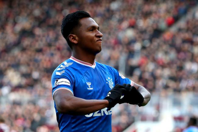Alfredo Morelos was allegedly targeted by Hearts fans after scoring the equaliser at Tynecastle