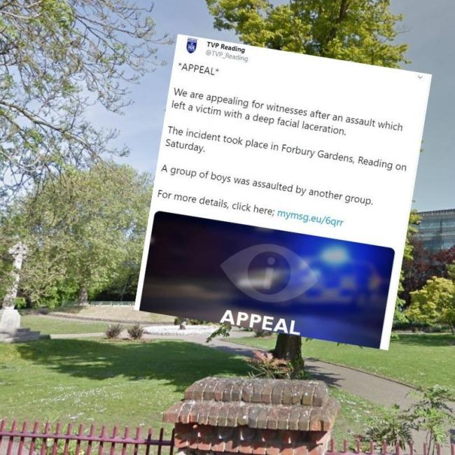The incident happened in Forbury Gardens