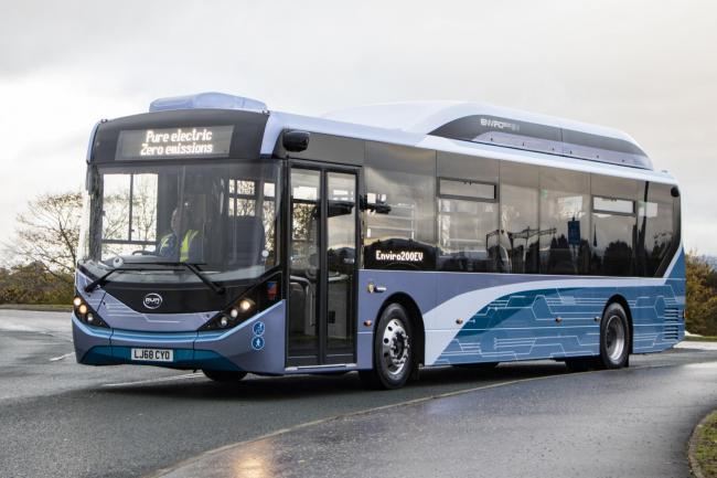 Fully electric bus is on its way to reading
