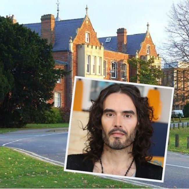 Russel Brand spoke to students at the University of Reading