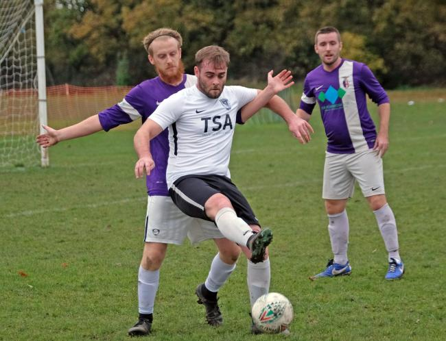 (191141) Harchester Hawks (Purple) vs Hurst FC Reserves. Pictures by Mike Swift.