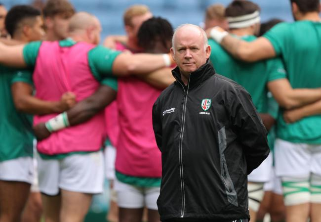 London Irish's Director of rugby Declan Kidney before the Gallagher Premiership match at the Ricoh Arena, Coventry. PA Photo. Picture date: Sunday October 20, 2019. See PA story RUGBYU Wasps. Photo credit should read: Andrew Matthews/PA Wire. RESTRICT