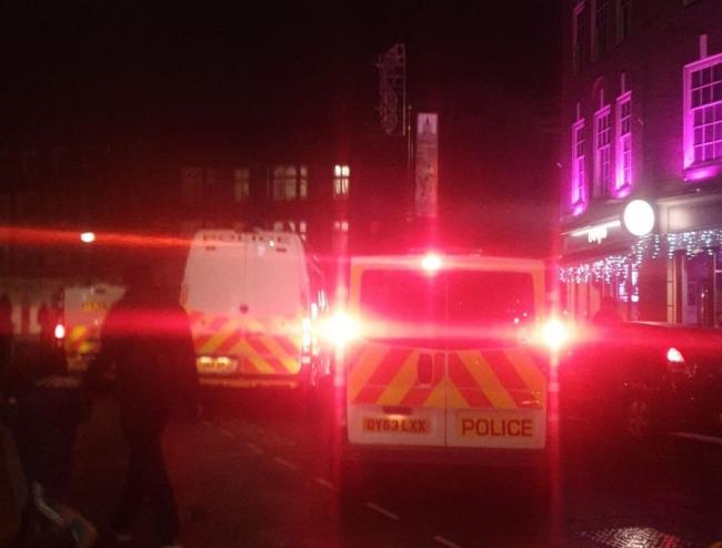 Massive police presence in town centre over reports of fights
