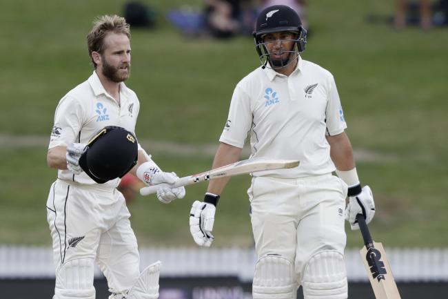 Kane Williamson, left, and Ross Taylor both amassed centuries (Mark Baker/AP)