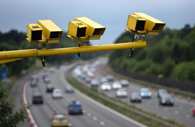 File photo dated 28/06/15 of three SPECS Average Speed cameras in position on a motorway. A total of 96 police officers have been investigated for speeding while on duty over the last four years, the PA news agency can reveal.