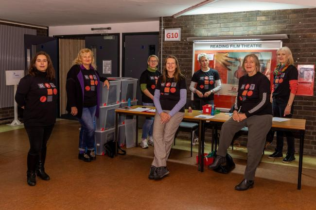 RFT volunteers at front of house desk