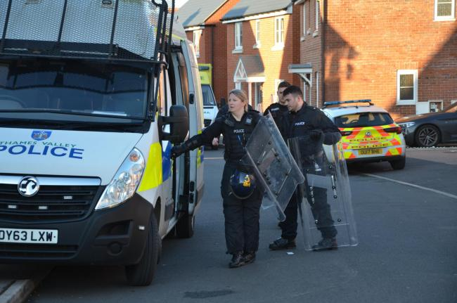 Police cordon in place over fear for welfare. Picture by Paul King.