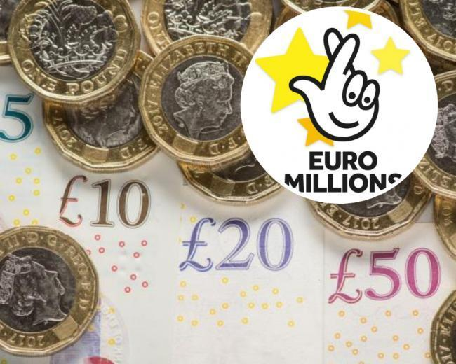 Euromillions stock image