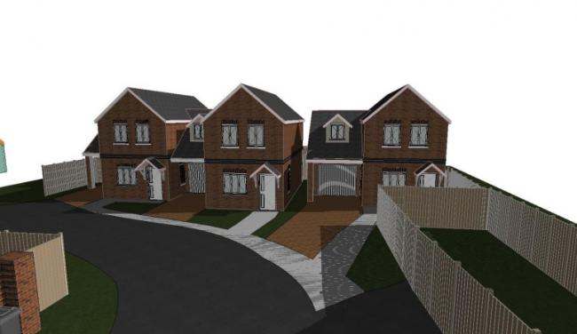 The plans on Norcot Road/Lemart Close