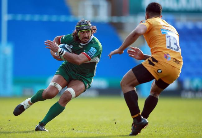London Irish's Blair Cowan (left) during the Gallagher Premiership match at the Madejski Stadium, Reading. PA Photo. Picture date: Sunday March 1, 2020. See PA story RUGBYU London Irish. Photo credit should read: Adam Davy/PA Wire. RESTRICTIONS: Edito