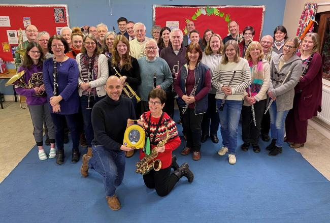 Trinity Concert Band raise funds for a defibrilator