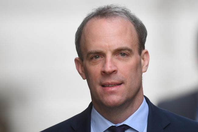Foreign Secretary Dominic Raab, who is taking charge of the Government's response to the coronavirus crisis after Prime Minister Boris Johnson was admitted to intensive care Monday, arrives in Downing Street, London. PA Photo. Picture date: Wednesday
