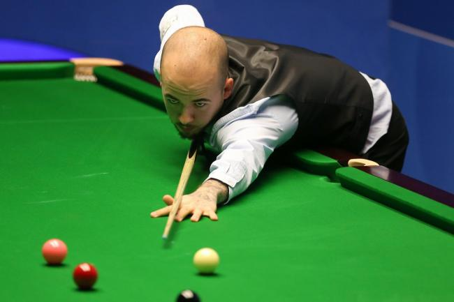 Luca Brecel progressed into the next stage of the Championship League (Nigel French/PA)