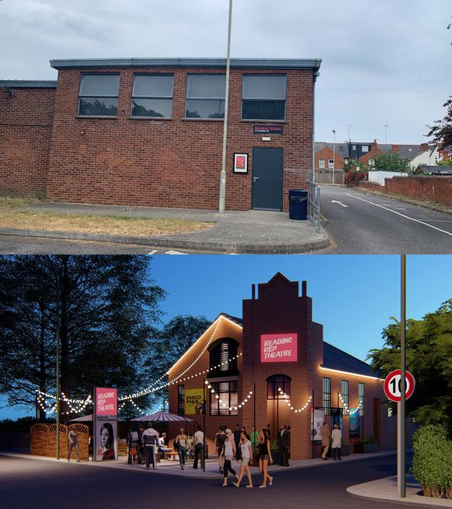 Pictures of the building as it was and the planned new build