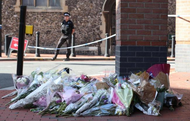 Flowers at scene. Pic: PA