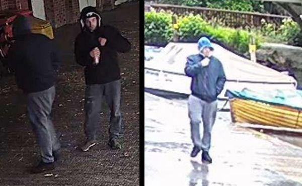 Police would like to speak to these men. Pic: TVP