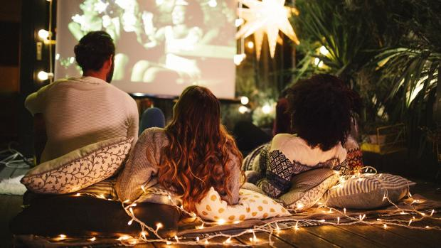 Reading Chronicle: Sit back and relax with a projector and outdoor screen. Credit: Getty Images / M_A_Y_A