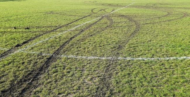 Damage to Chalfont Football park