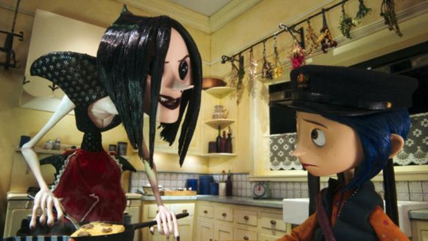 Reading Chronicle: If the vacant button eye visuals don't creep your kiddo out, this is a wonderful film. Credit: Laika
