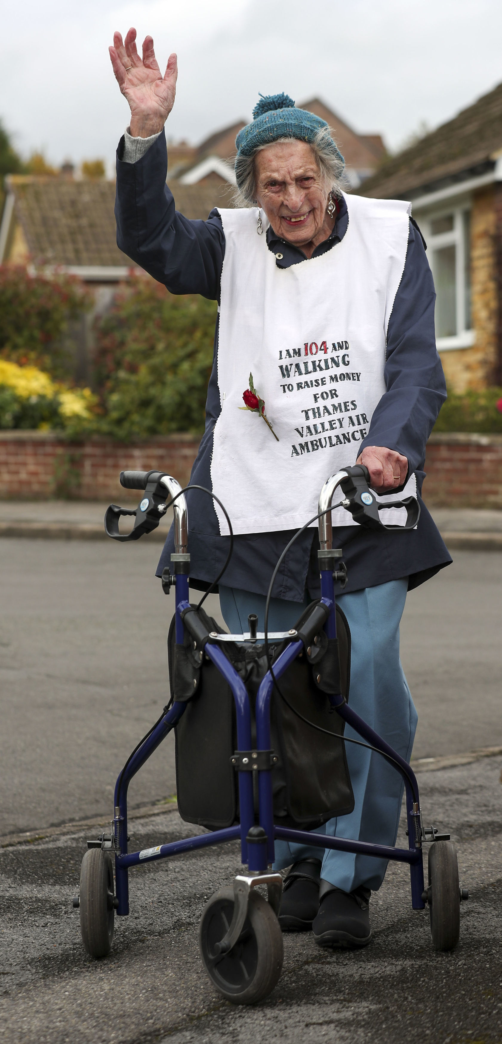 104-year-old woman walking a marathon to raise money for charity