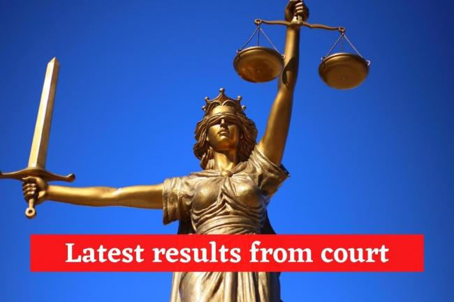 In the Dock: Results from court