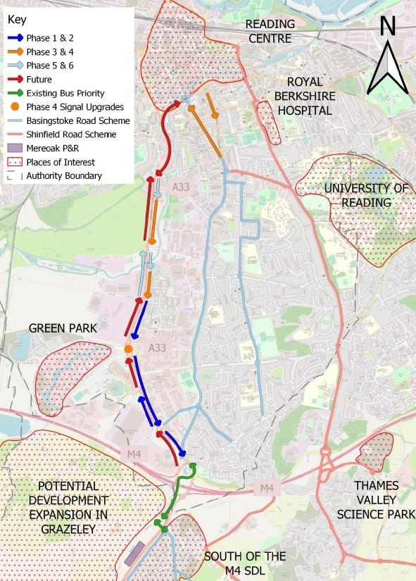 The South Reading MRT plans