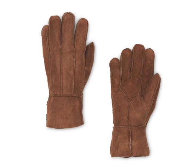 Reading Chronicle: Ladies' Brown Lambskin Gloves. Picture: Aldi