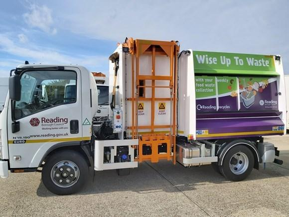 The Reading food waste truck