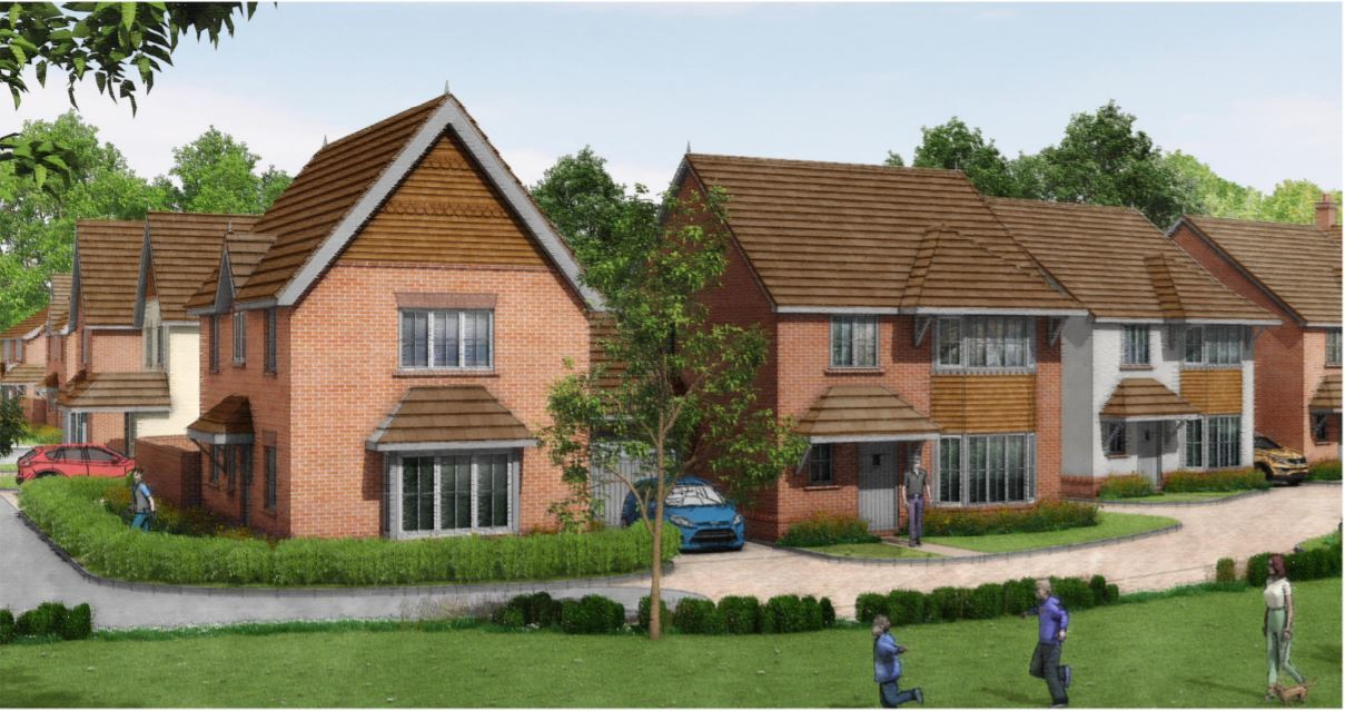 Proposed CGI images of homes to be build beside the Lidl store. Pic by Lower Earley Properties