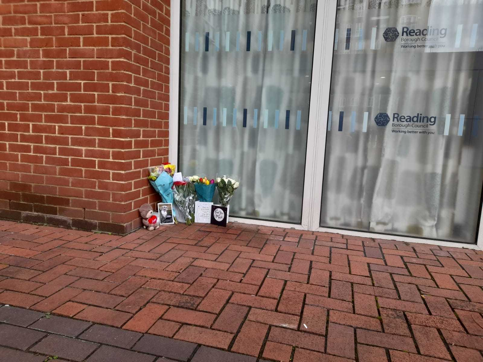 Tributes at the council offices