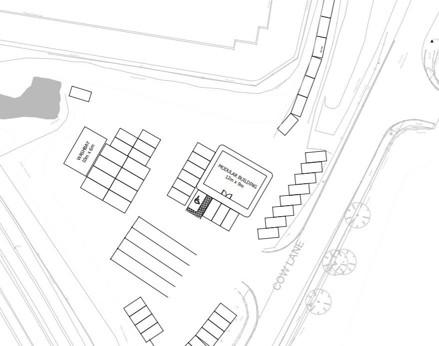 Car rental plans on Cow Lane
