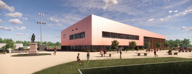 Reading Chronicle: An artist's impression of the new-look leisure centre that will open in Palmer Park in 2023