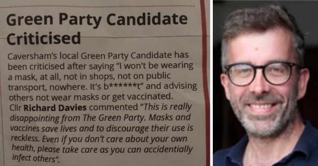 Cllr Davies has been slammed for his false election leaflet criticism