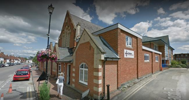 Wokingham Methodist Church on Rose Street, Wokingham. Image via Google
