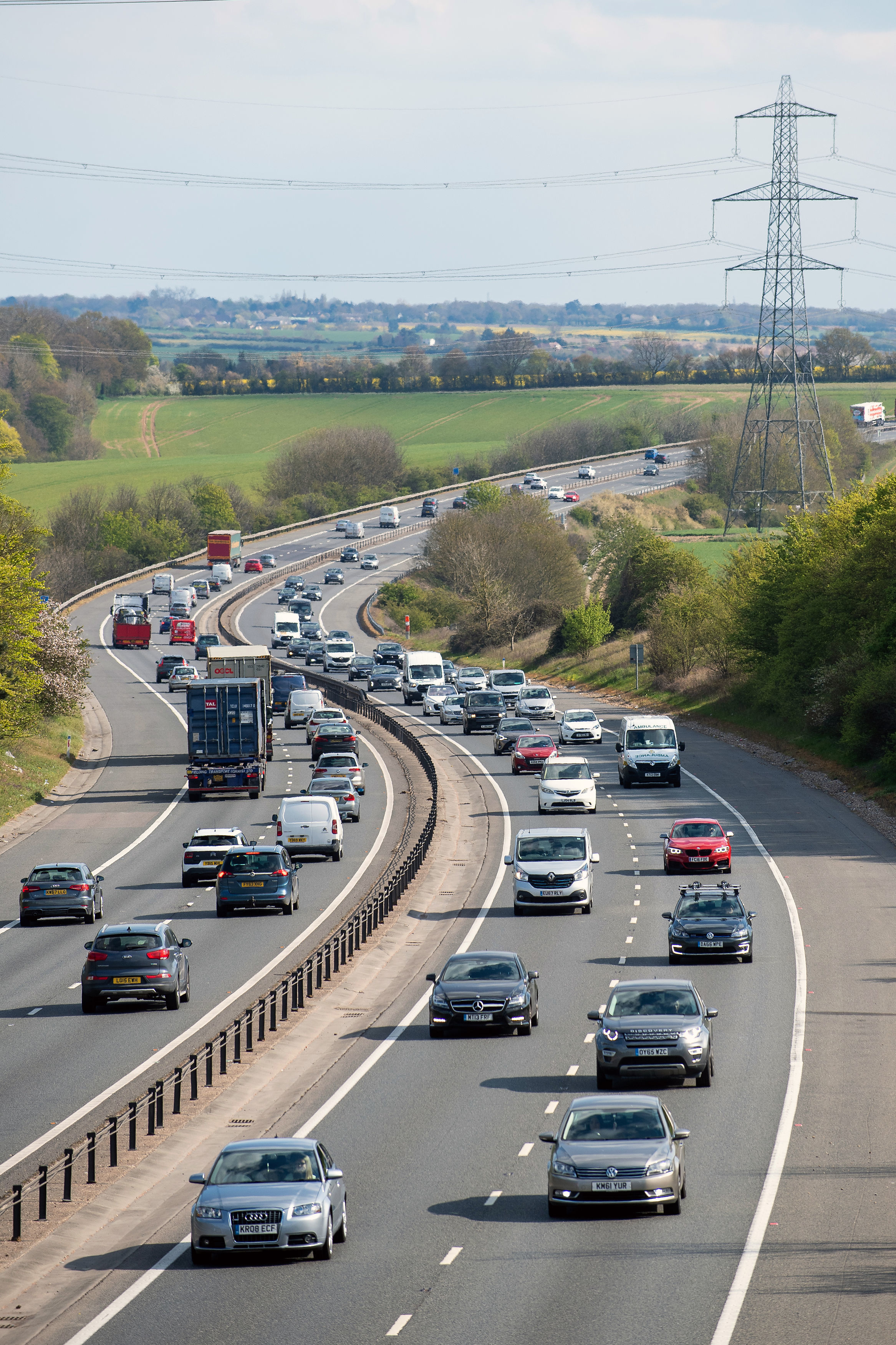 Stock image of traffic via PA