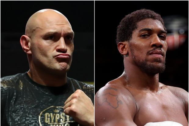 Tyson Fury (left) and Anthony Joshua will go toe-to-toe in August