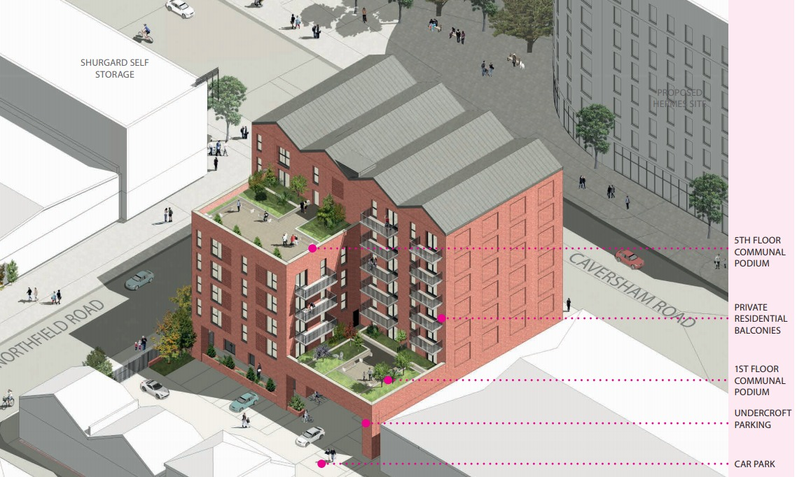 Design of the planned building at the former Drews Ironmongers site