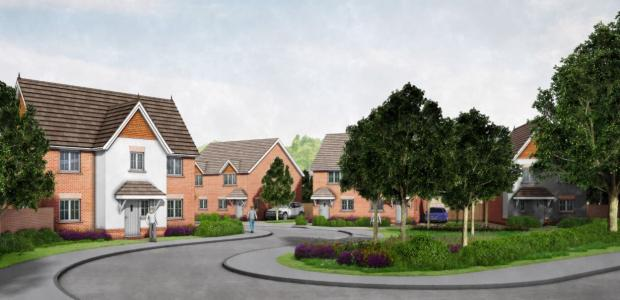 Reading Chronicle: An impression of what houses in Meldreth Way, Lower Earley can look like.  Credit: DHA Architecture Ltd
