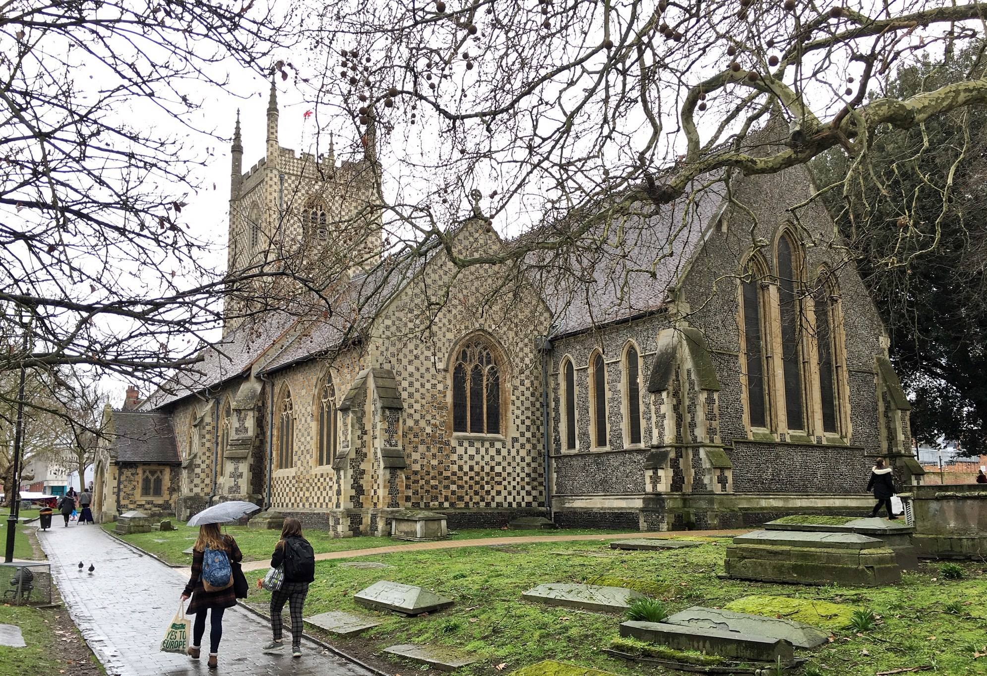 190288) St. Marys Church (Reading Minster) Then and Now Reading - March 2019. Pictures by Mike Swift.