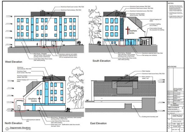 Reading Chronicle: Changes made to the Greyfriars Church Centre in Greyfriars Road, Reading town centre. Credit: JBKS Architects