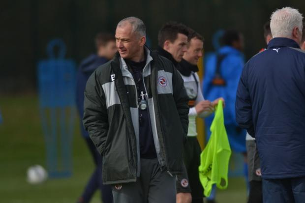 Reading Chronicle: Eamonn Dolan has been taking training in the wake of Brian McDermott's departure. Pic by Chris Forsey.