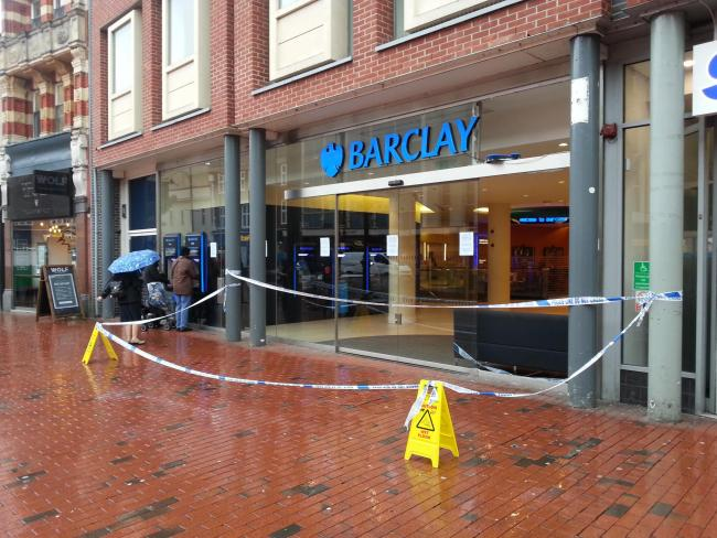 Barclays bank sealed off by police